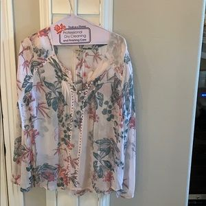 Lucky Brand Tops - Lucky Brand Floral Blouse dusty pink M